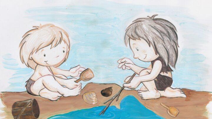Óriásgyerekek homokoznak