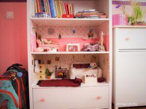 Barbie-szoba a szekrényben
